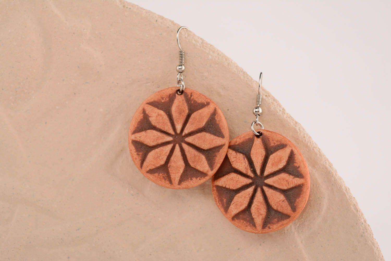 Clay earrings Female Alatyr photo 4
