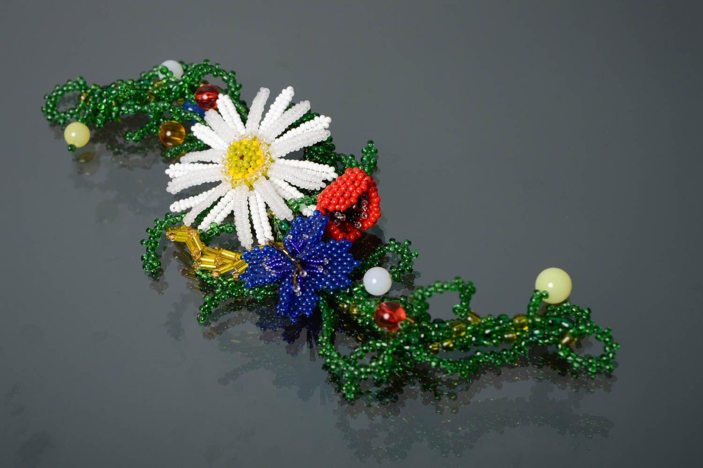 Цветочный браслет из бисера Украиночка фото 2