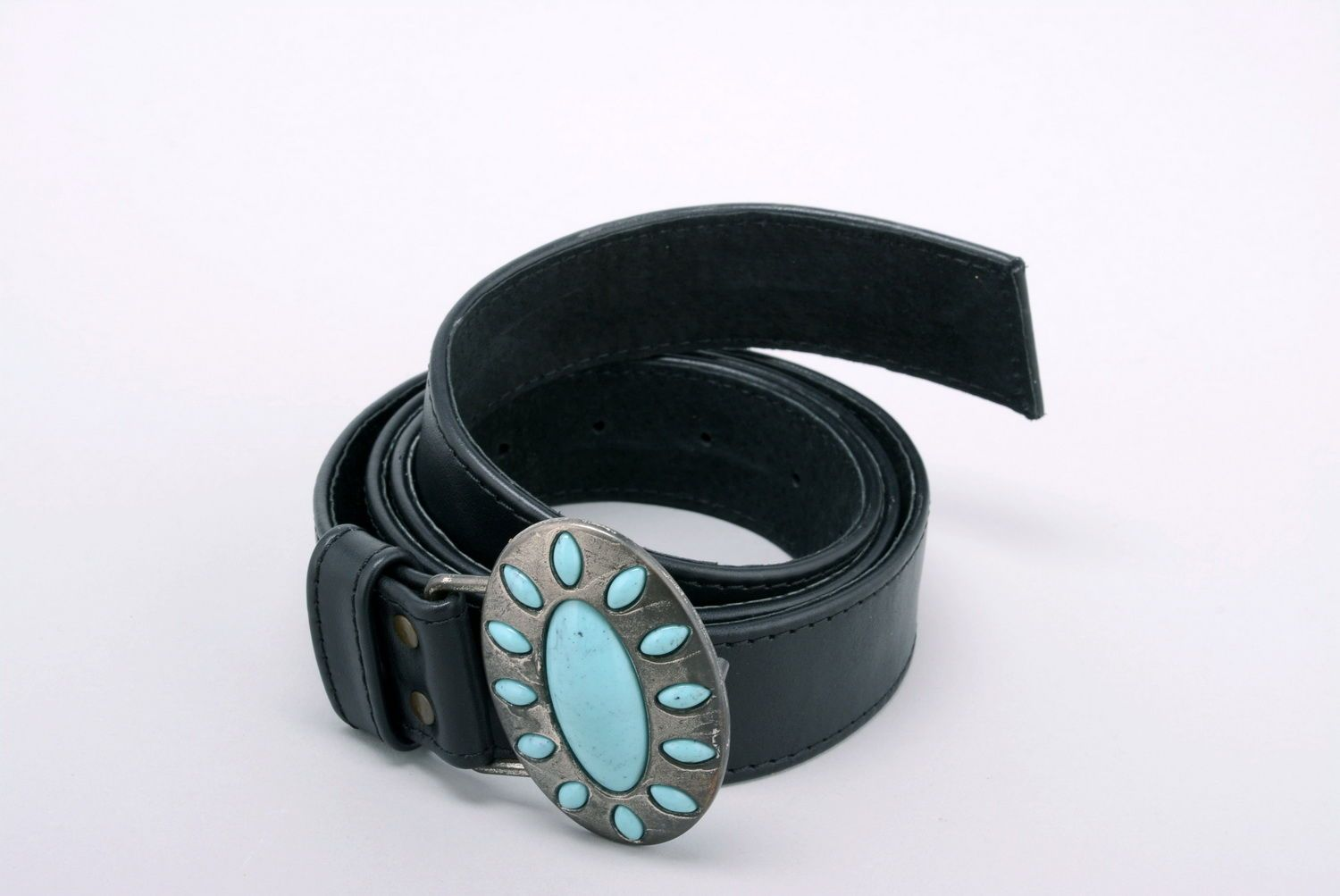 Woman's belt Turquoise photo 2