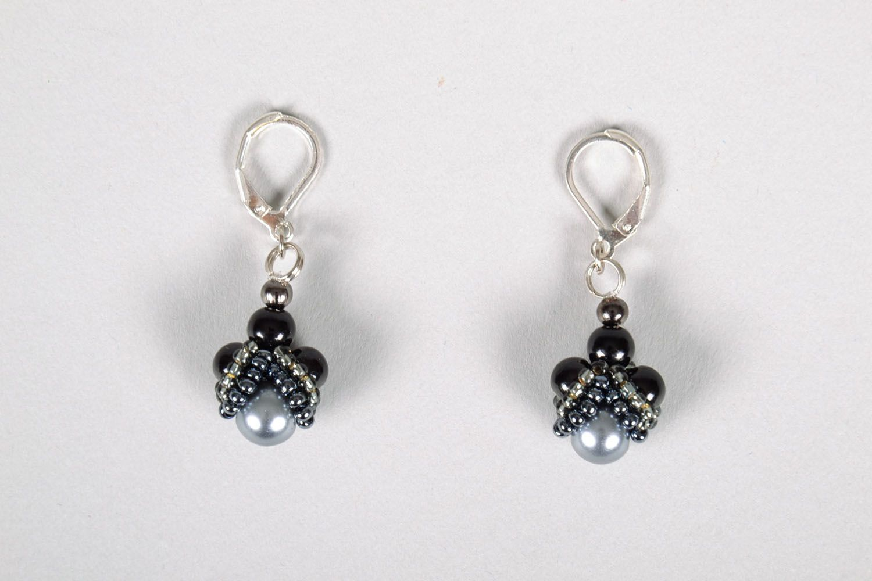 Lange Ohrringe in Schwarz foto 2
