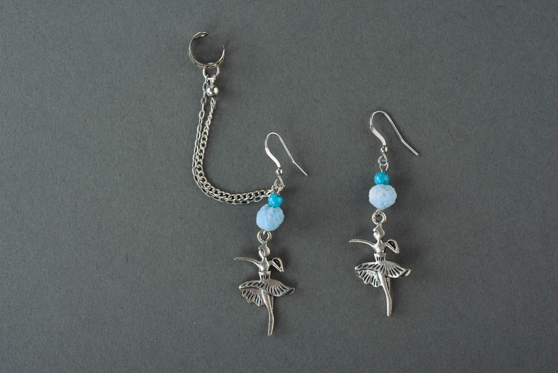 Metal cuff earrings Ballerinas photo 2