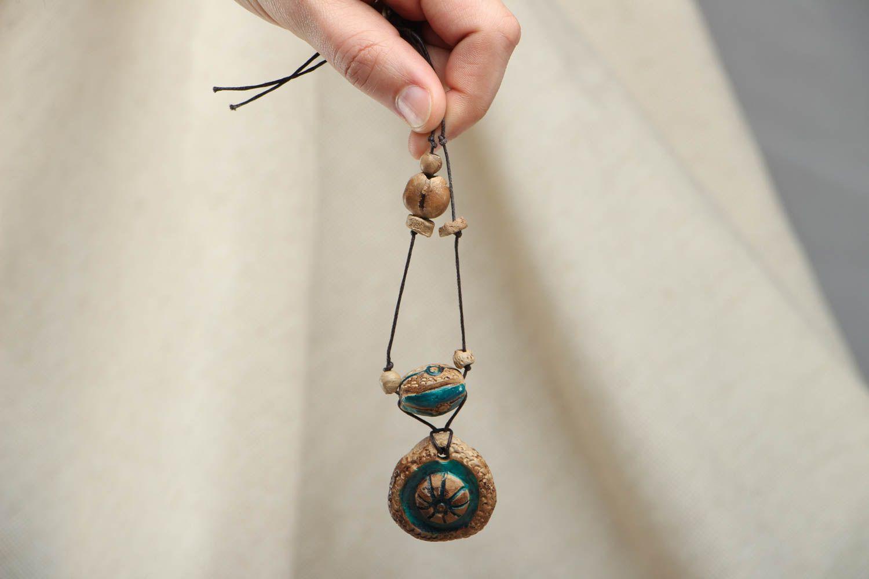 Ceramic amulet pendant photo 4