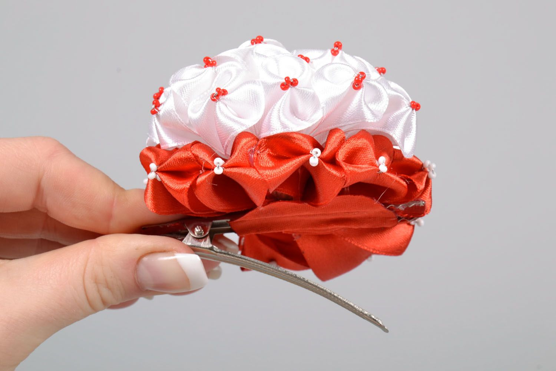 Haarspange mit Blumen foto 5