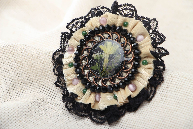 Fashionable homemade brooch photo 1