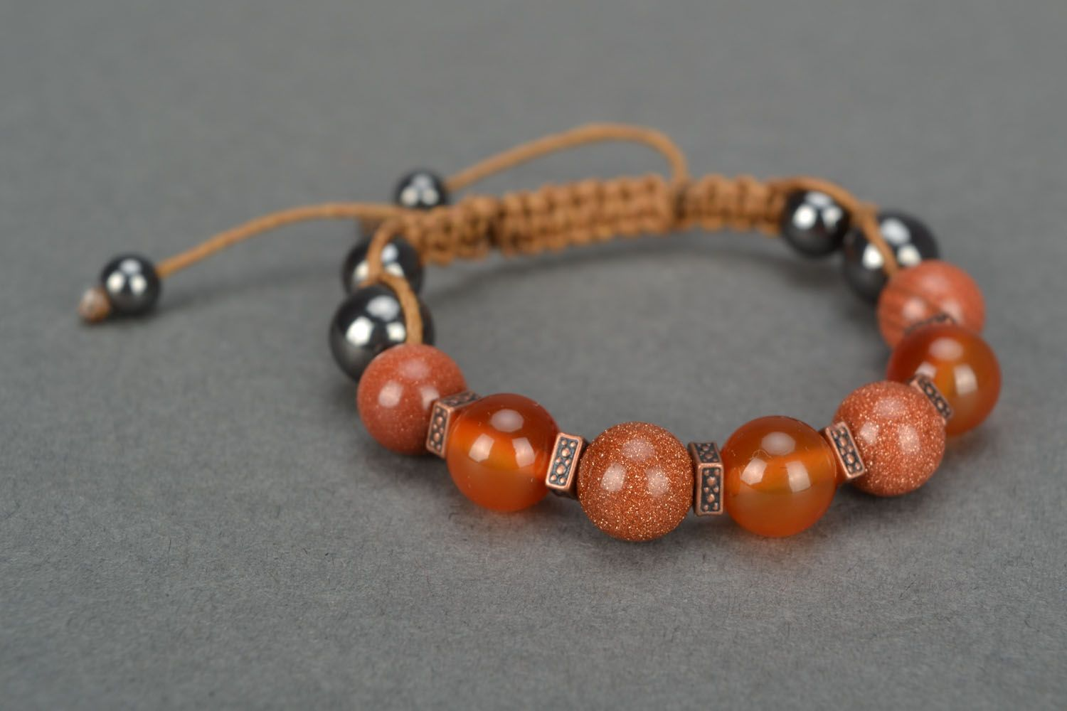 Wrist bracelet with natural stones photo 3