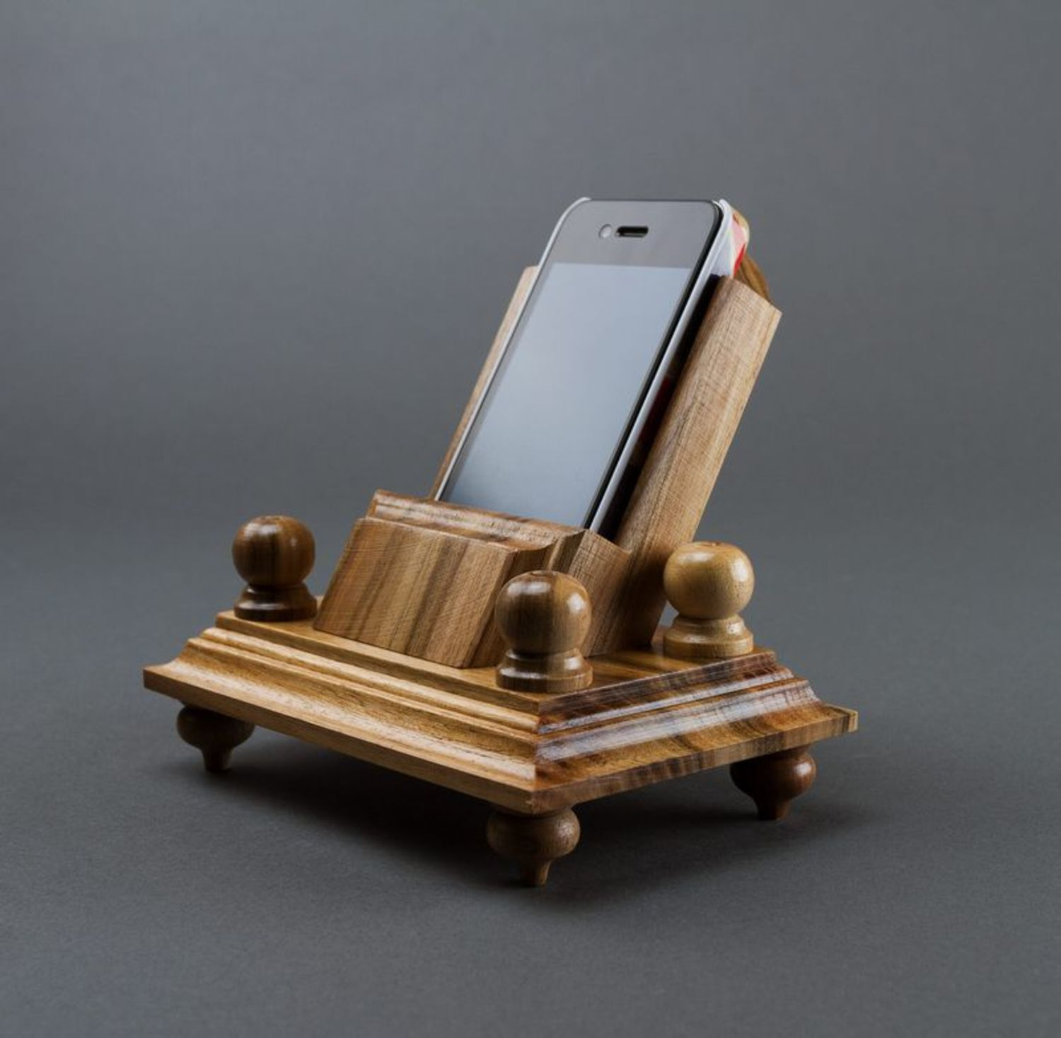 Wooden phone stand photo 1