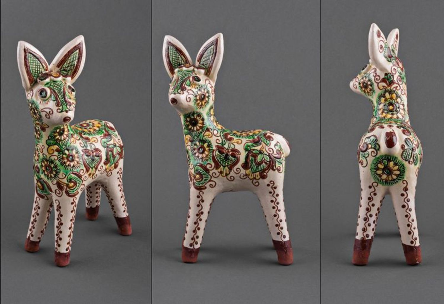 A set of clay figurines Baby Deers photo 4