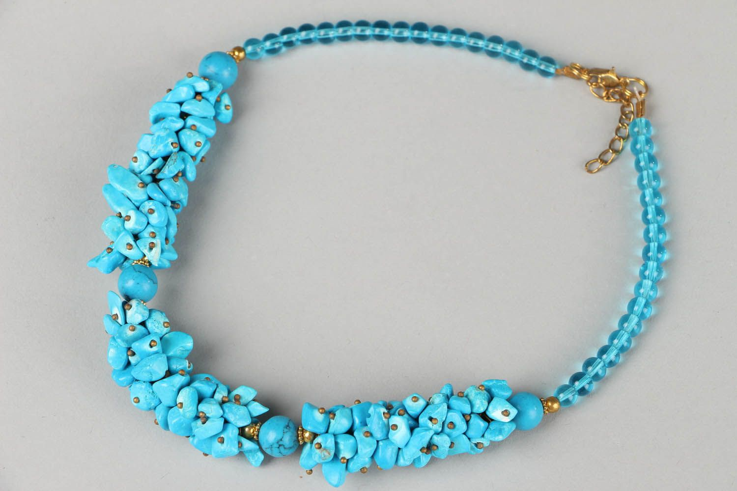 Necklace made of turquoise photo 1