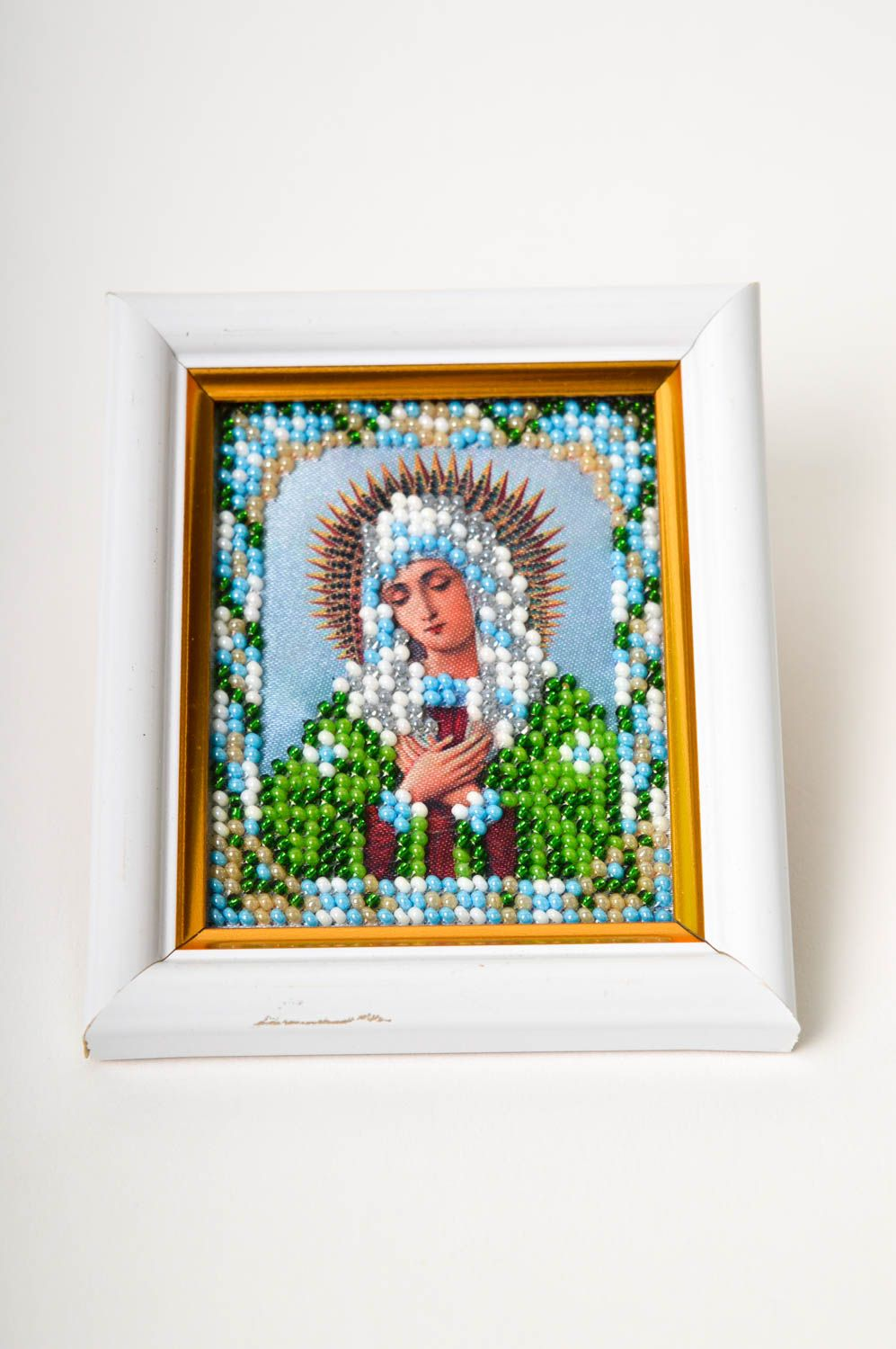 Handmade beautiful icon embroidered icon for home designer home amulet photo 3