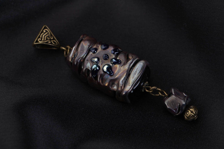 Handmade glass pendant Magic Stone photo 1