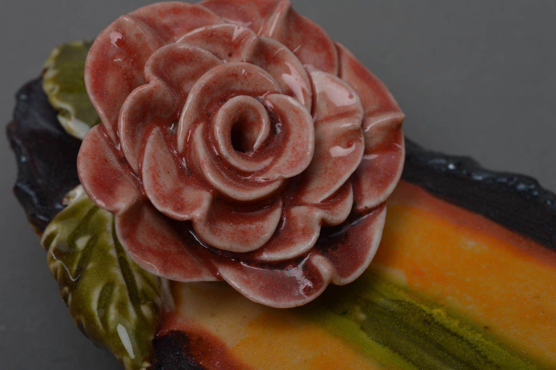 Handmade decorative glazed porcelain incense stick holder joss stick stand photo 2
