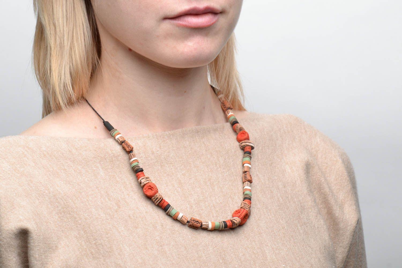 Handmade ceramic necklace photo 2