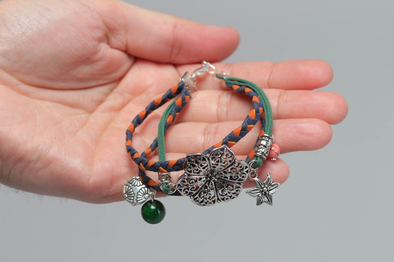 pulseras de cuero Pulsera artesanal de cuero natural bisutería fina regalo para mujer joven , MADEheart