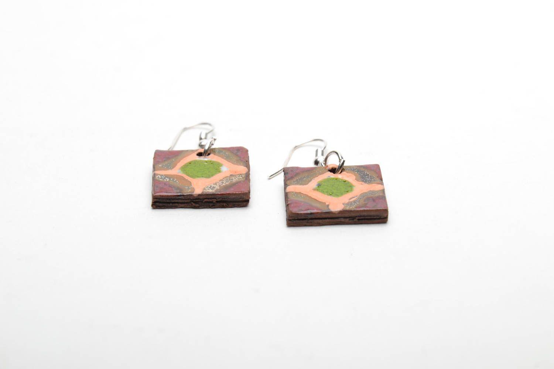 Ethnic ceramic earrings photo 4