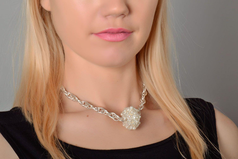 Beautiful beaded pendant photo 1