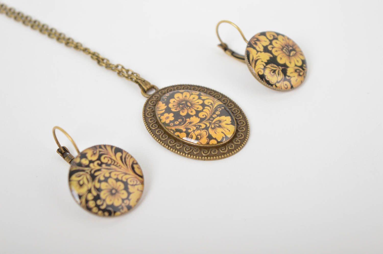 Handmade stylish jewelry set elite designer accessories elegant feminine present photo 4