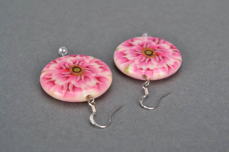 Handgemachte Ohrringe aus Glasperlen foto 4