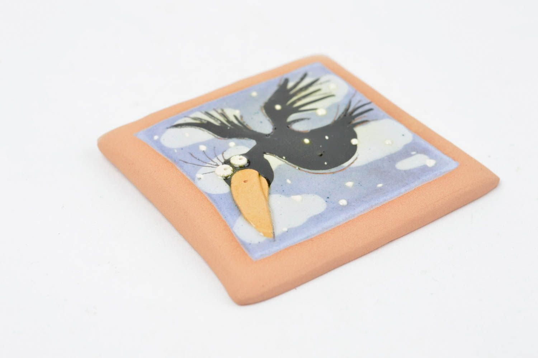 Handmade fridge magnet stylish ceramic souvenir kitchen decor cute fridge magnet photo 2