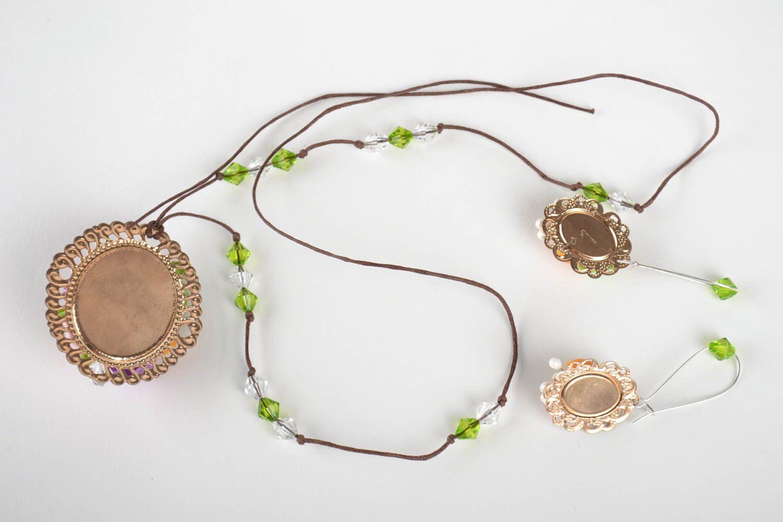 Jewelry set flower jewelry handmade earrings pendant necklace fashion jewelry photo 2