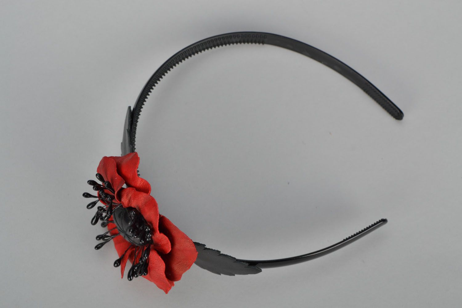 Design headband with poppies photo 3