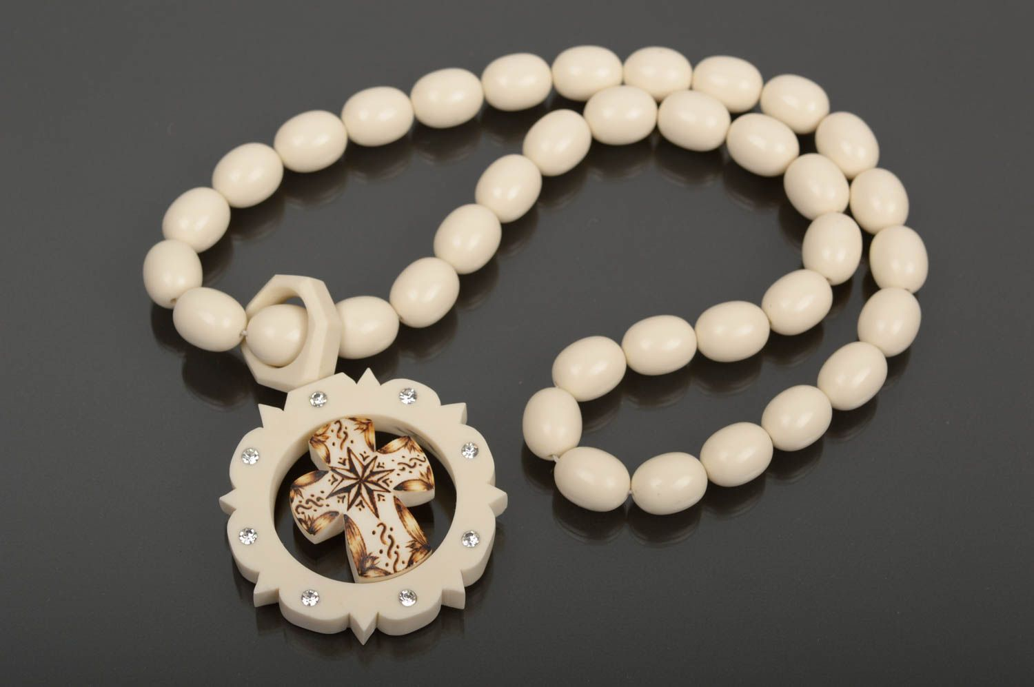 Handmade rosary designer accessory gift ideas bone rosary gift for men photo 1