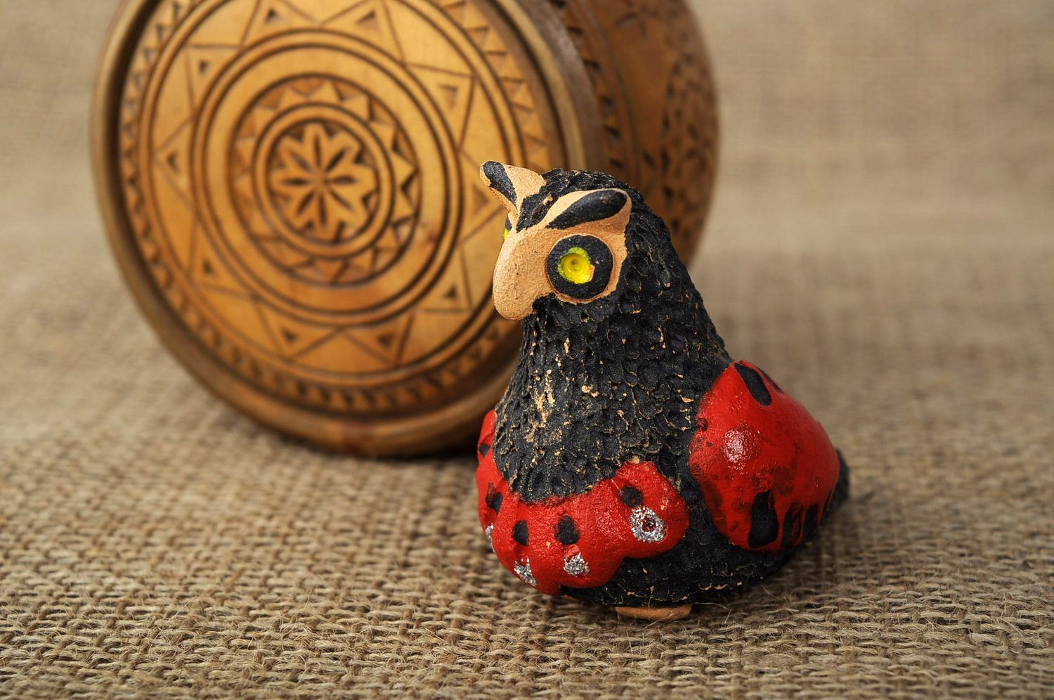 Penny whistle in the form of owl, hand work photo 5