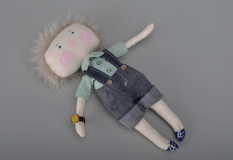 Handmade soft doll photo 2