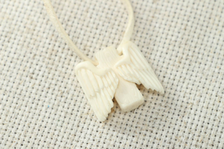 Cow bone pendant Angel photo 2