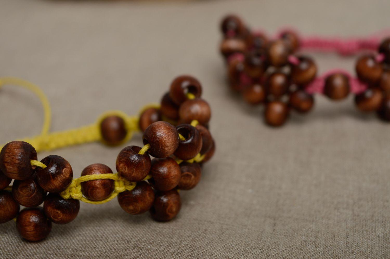madeheart bracelet fait main de lacet cir et perles de. Black Bedroom Furniture Sets. Home Design Ideas