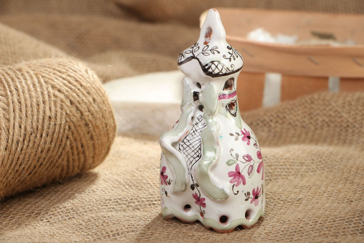 Decorative clay bell photo 5
