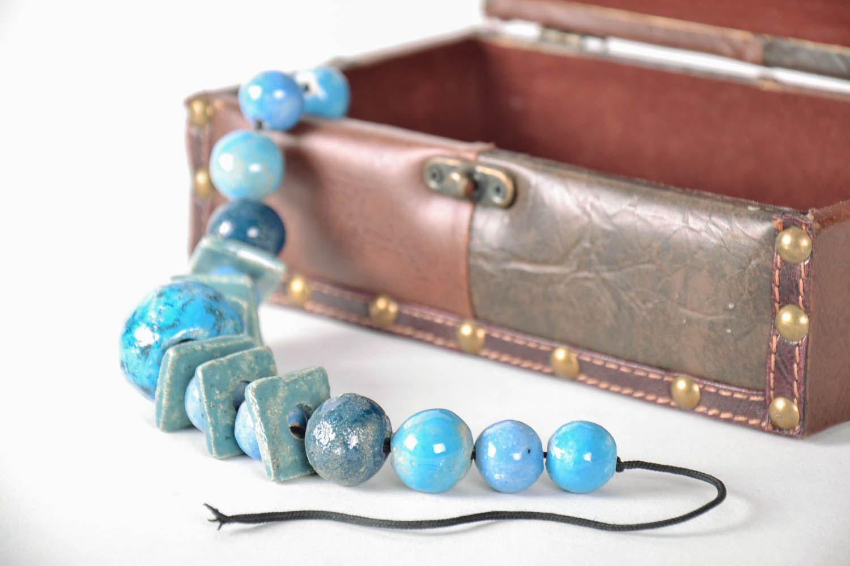 Massive ceramic bead necklace photo 1