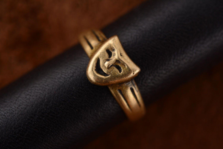 Кольцо из бронзы Маски фото 2