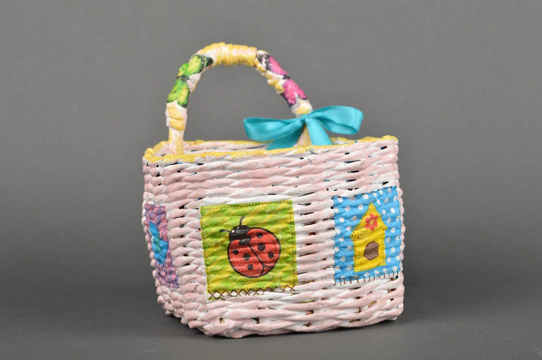 Handmade paper basket 80