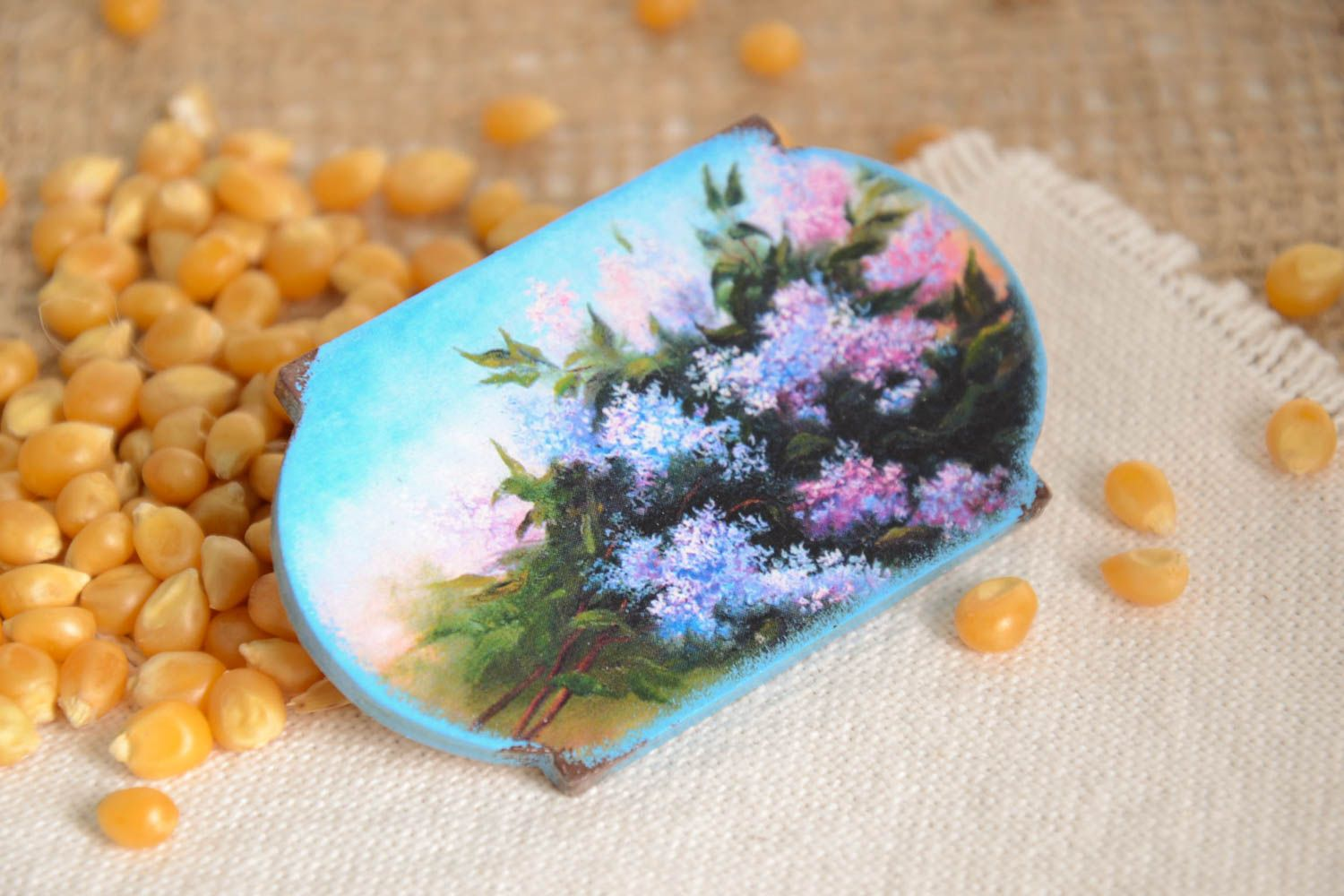 Unusual handmade fridge magnet kitchen supplies small gifts decorative use only photo 1