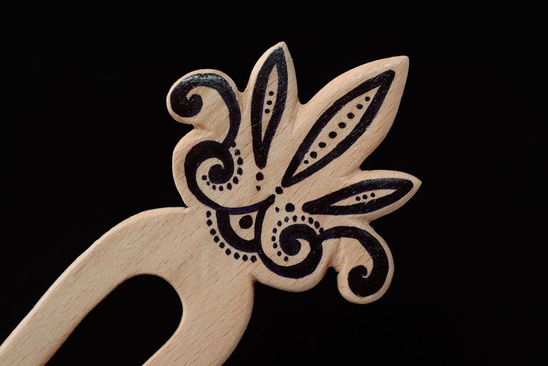 Designer hairpin Lotus photo 2