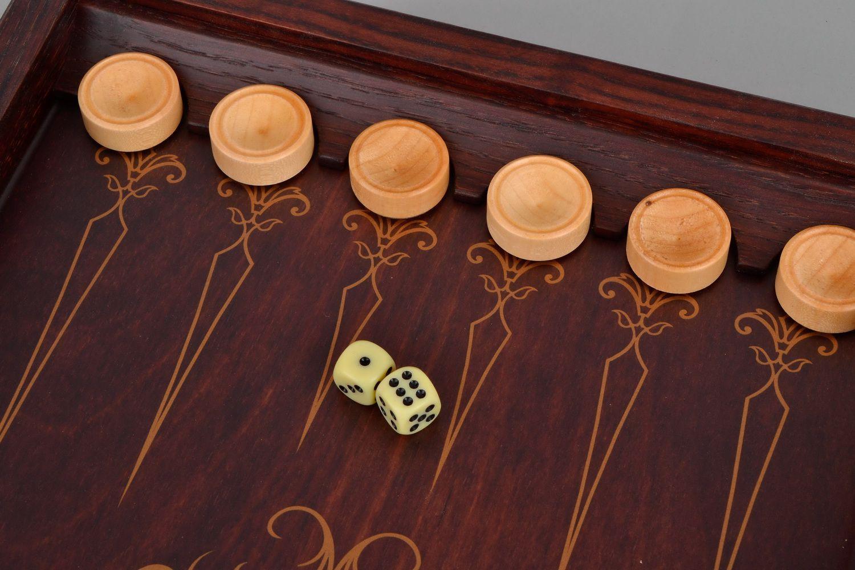 Wooden backgammon set photo 5