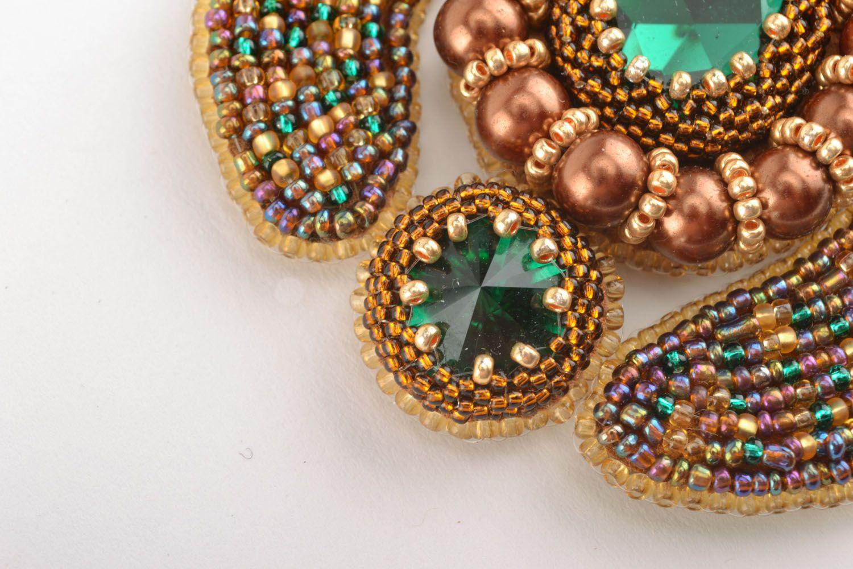Beautiful beaded necklace photo 2