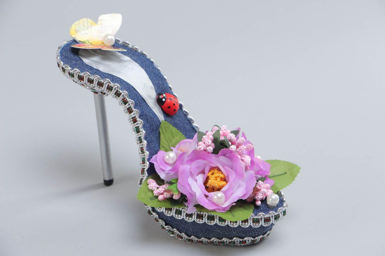 Туфельки с цветами своими руками