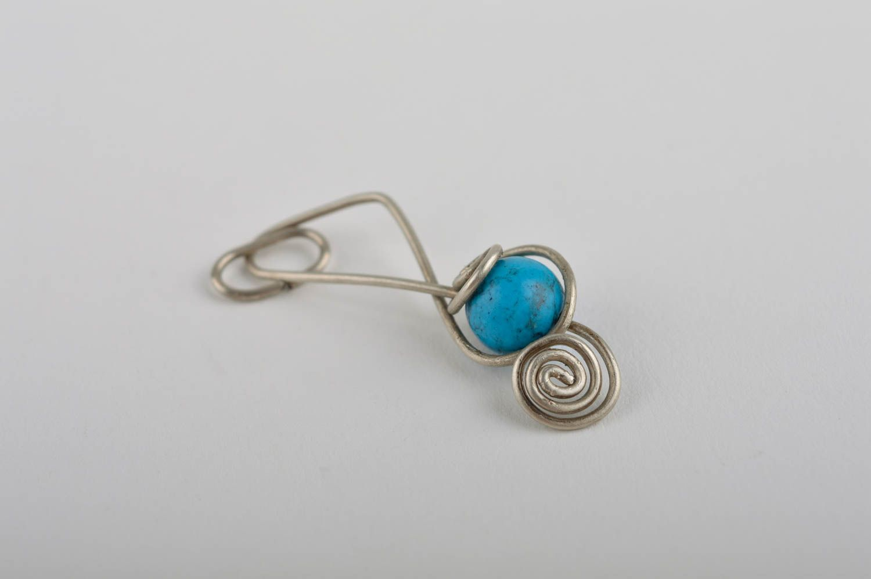 Stylish handmade metal neck pendant stone pendant beaded pendant design photo 4