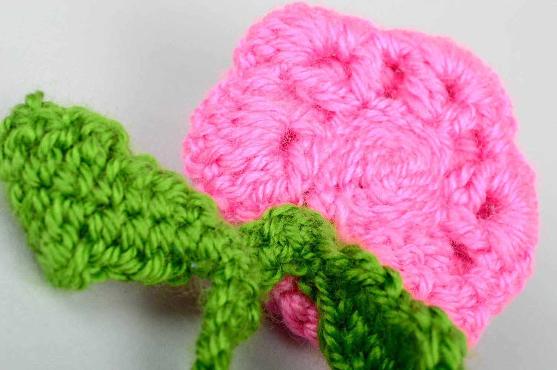 madeheart marque page fait main fleur de rose au crochet accessoire livre id e cadeau. Black Bedroom Furniture Sets. Home Design Ideas