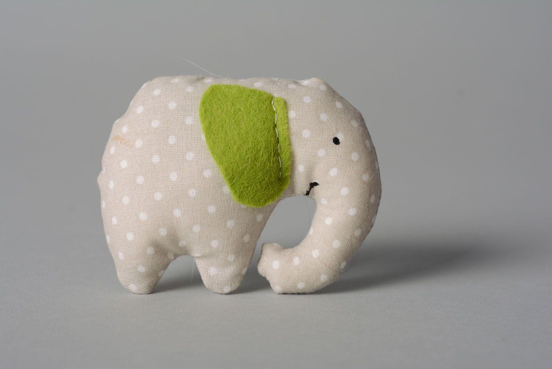 Soft toy with mint Elephant photo 1