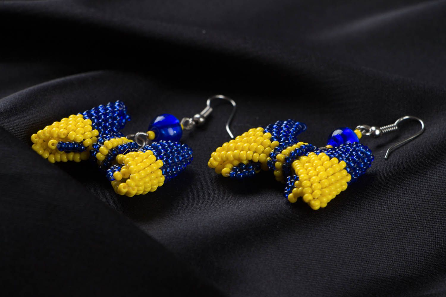 Homemade beaded earrings photo 2