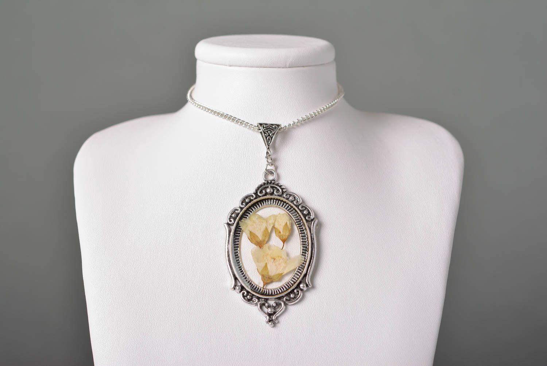 Handmade jewelry botanic pendant flower pendant accessories for girls photo 1