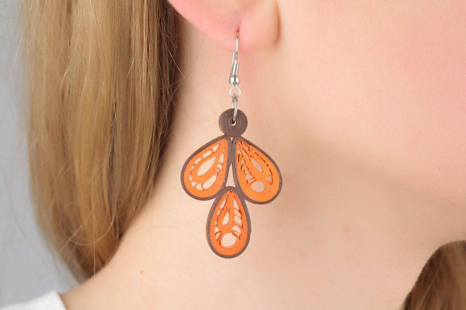 Earrings with pattern photo 1