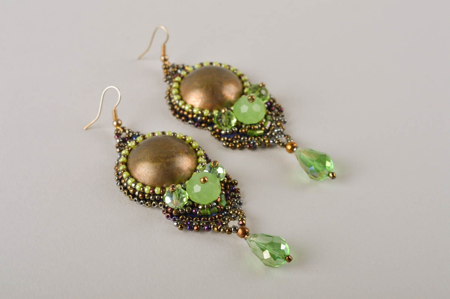 Unusual handmade beaded earrings costume jewelry designs fashion trends photo 3