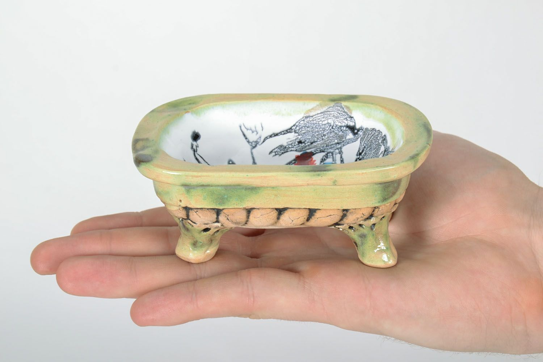 Ceramic soap dish photo 2