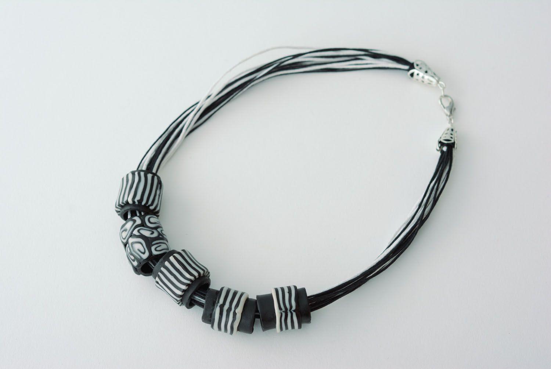 Polymerton Halskette Zebra foto 4