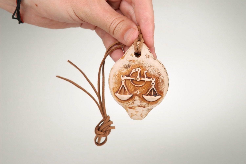 Ceramic tin whistle sign of Zodiac Libra photo 3