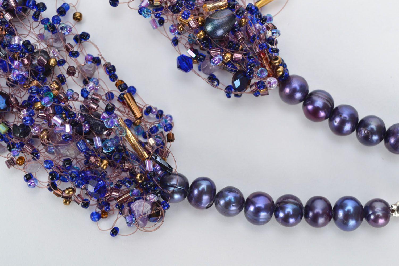 Gemstone beaded necklace photo 4