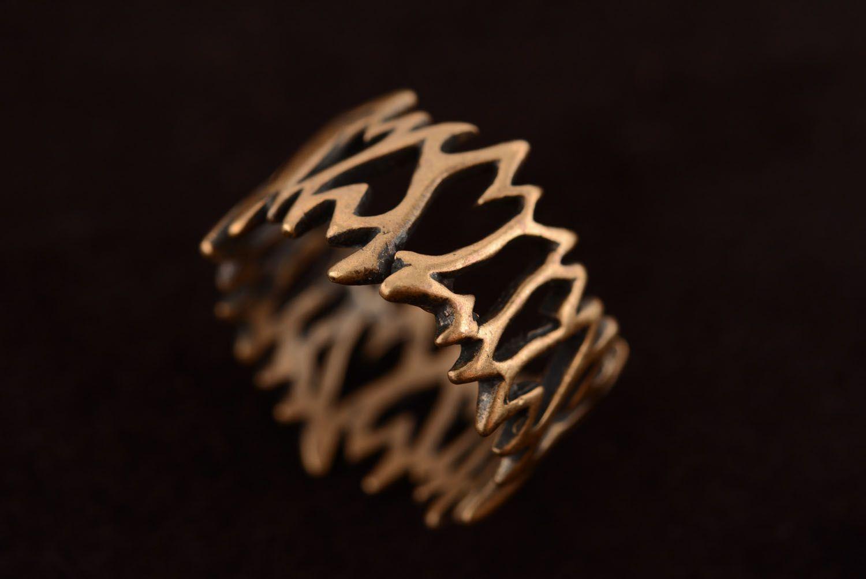 Необычное кольцо из бронзы  фото 5